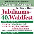 Waldfest Trachtenverein Gebensbach 2017
