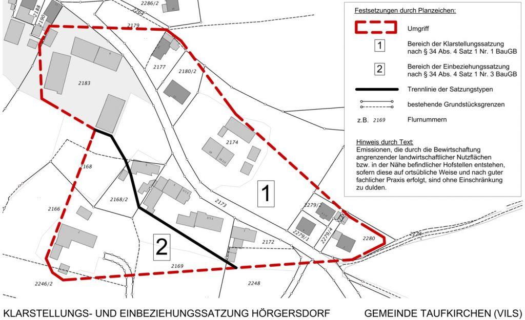 Plan Hörgersdorf Ergänzungssatzung