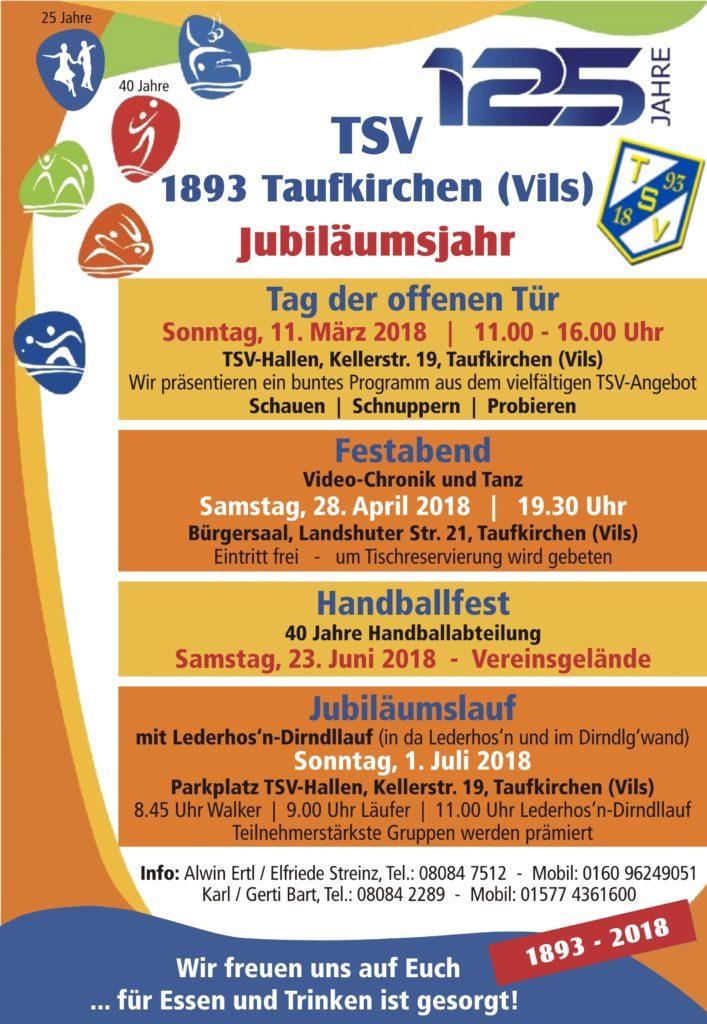 Programm 125 Jahre TSV