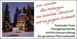 Advents- und Weihnachtsglückwunsch Pfarrei