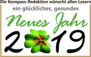 Neujahrsglückwunsch 2019 Kompassredaktion