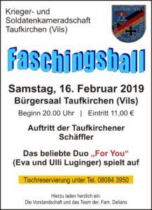 KSK-Taufkirchen Faschingsball 2019