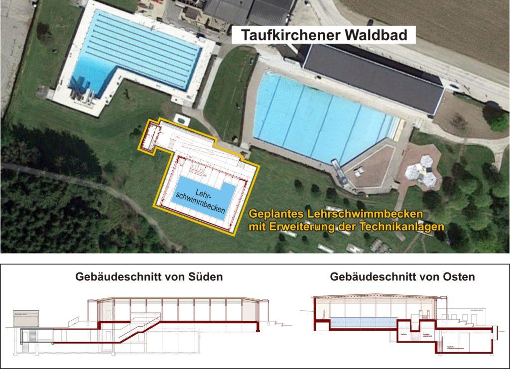 Lehrschwimmbecken Waldbad Entwurf