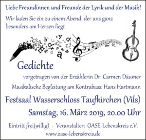 Poster OASE Gedichte