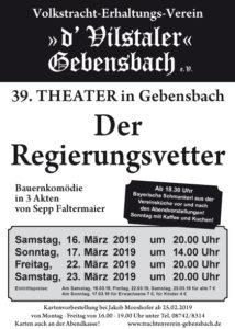 Theater Gebensbach 2019