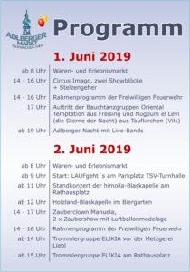 Adlberger Markt 2019 Programm