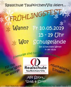 Frühlingsfest Realschule Plakat