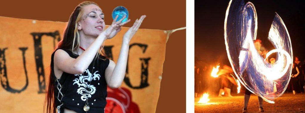 Mittelaltermarkt Gauklerin + Feuershow