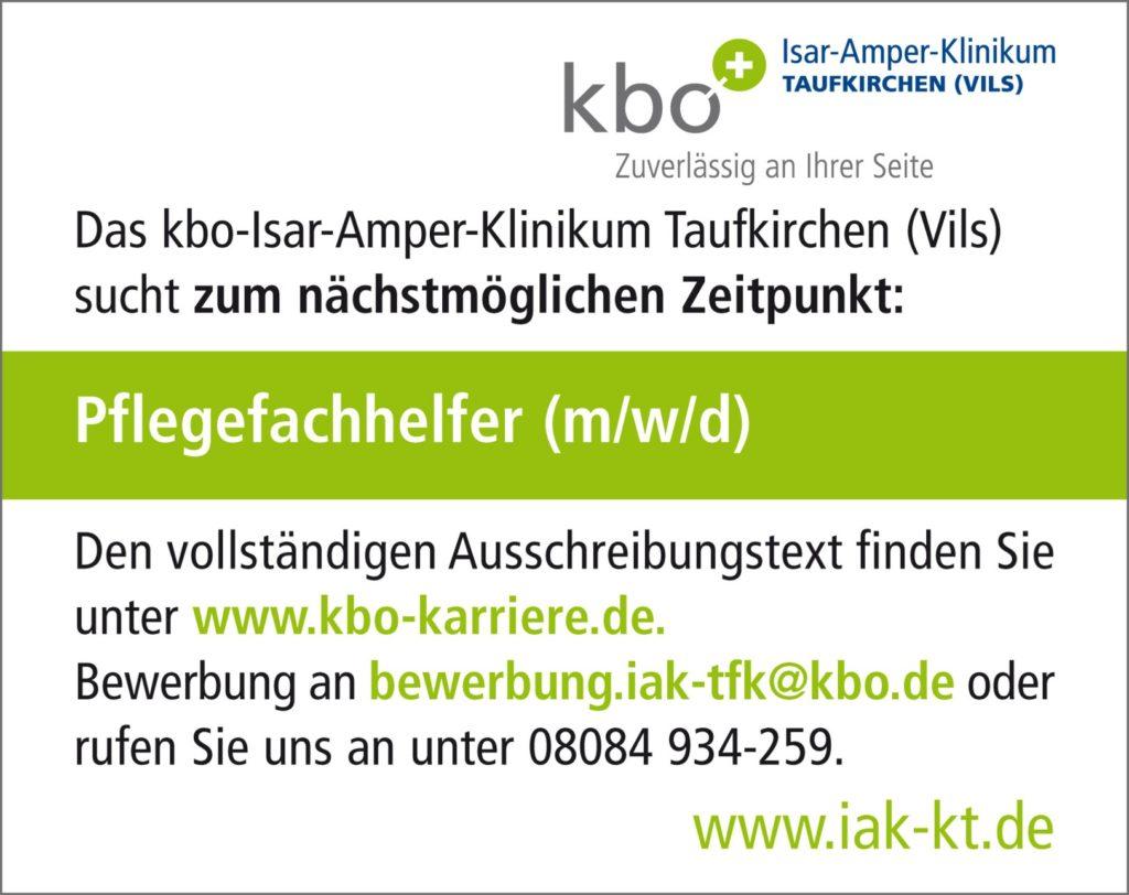 Job-Börse kbo-Klinik Pflegefachhelfer