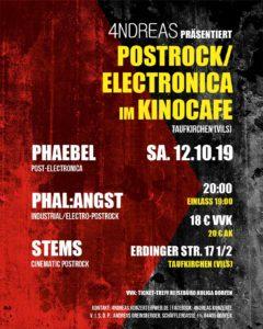 4NDREAS Konzert Postrock/Electronica