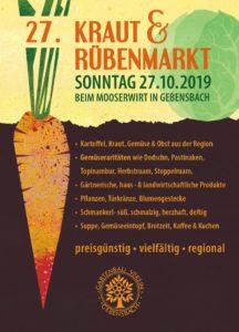 Kraut- & Rübenmarkt Gebensbach 2019