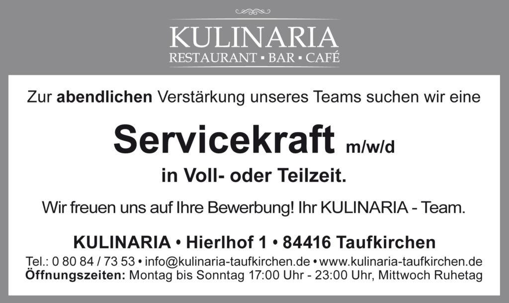 Job-Börse Kulinaria Servicekraft