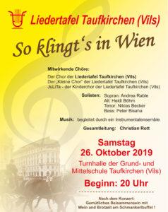Plakat Liedertafel Herbstkonzert