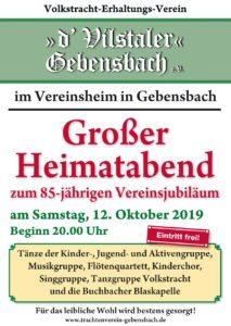 Heimatabend Trachtenverein Gebensbach
