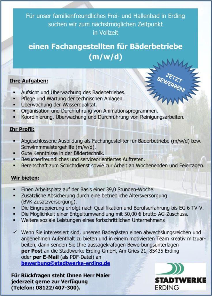 Job Stadtwerke ED-Bäderbetriebe