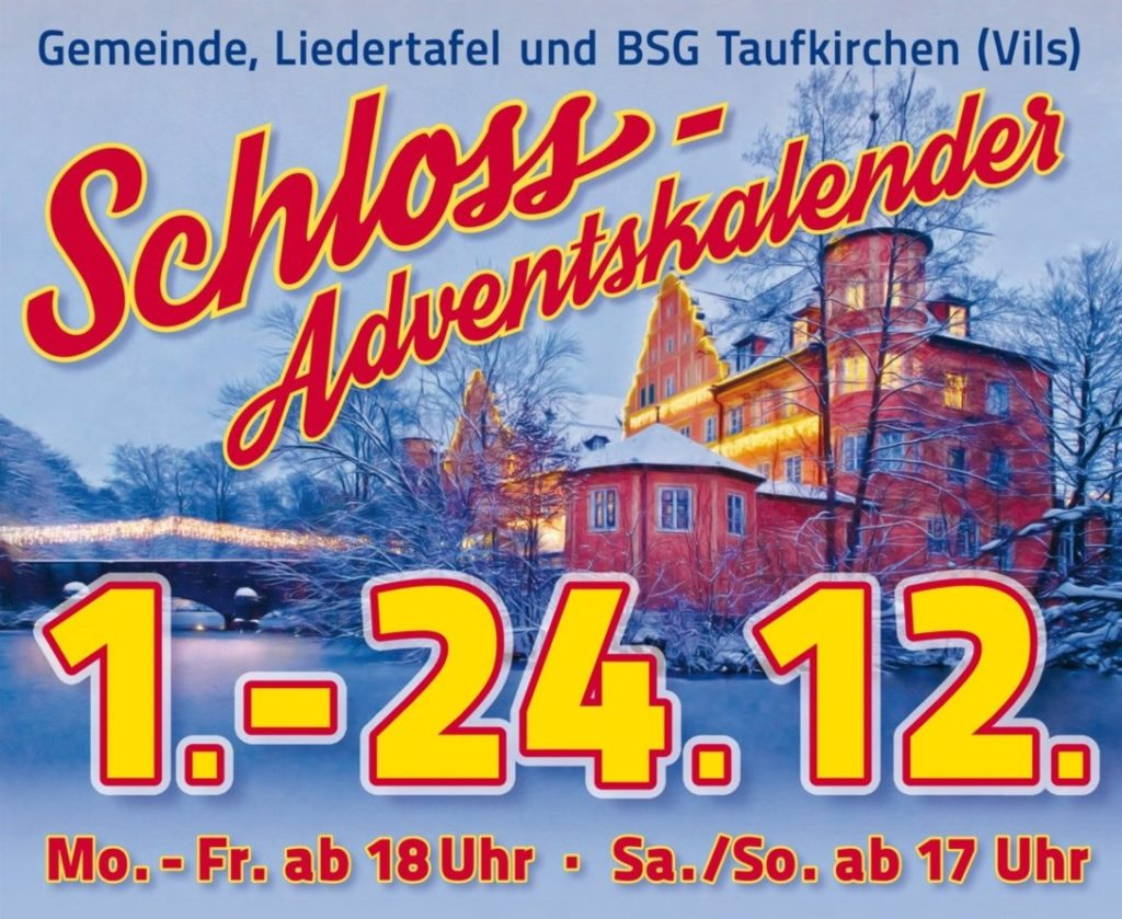 Schloss Adventskalender 2019 Motiv