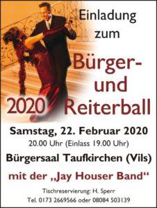 Bürger- und Reiterball 2020