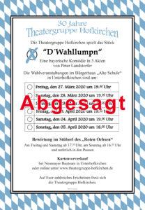 Hofkirchen Theater-abgesagt