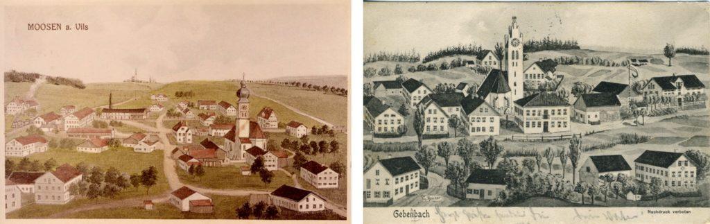 Ansichtskarten Archiv Moosen+Gebensbach