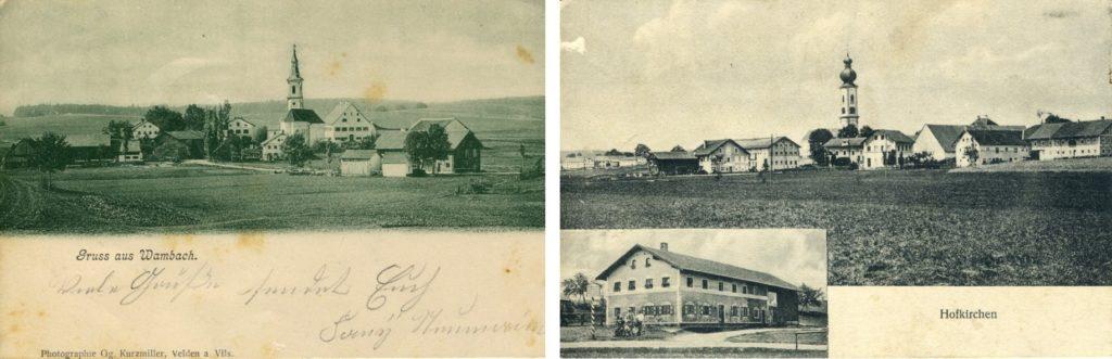 Ansichtskarten Archiv Wambach+Hofkirchen