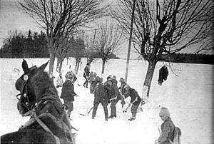 Gemeindearchiv Schneeräumen Hainöd 1930
